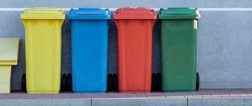 Poubelles bacs de tri pour le recyclage