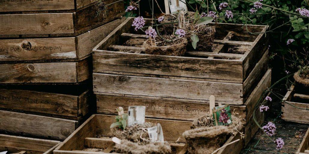Photo cagettes en bois